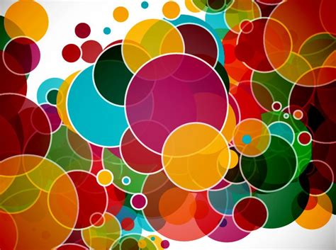 free colorful pattern background vector colorful circles abstract vector background free vector