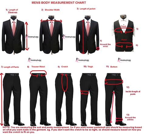 Body Measurements Weddingoutlet Com Au Suit Measurements Template