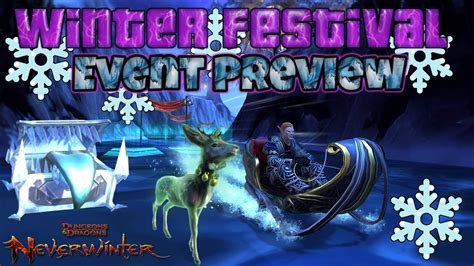 neverwinter xbox winter festival event preview youtube