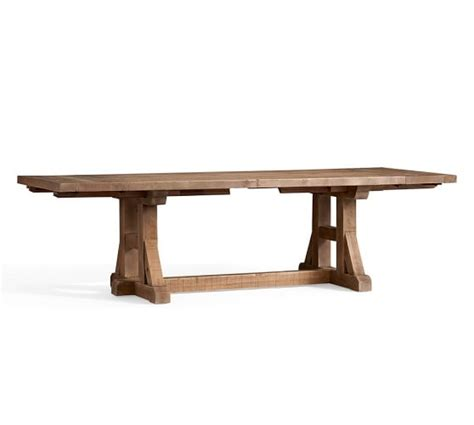 potterybarn bench stafford reclaimed pine extending table bench 3 piece