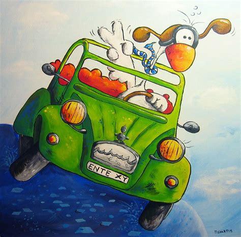 Auto Vogler by Image Ente Auto Vogel Malerei Modartis On Kunstnet