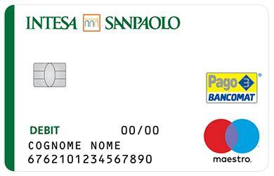 intesa carte bancocard circuito maestro e prelievo contanti intesa