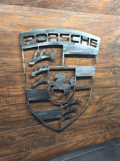 porsche garage decor porsche logo sign metal wall art decor man cave