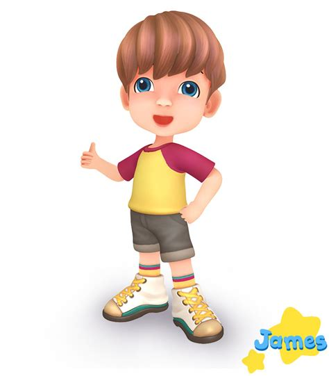 3d Kid character model animation animate 3d rendering
