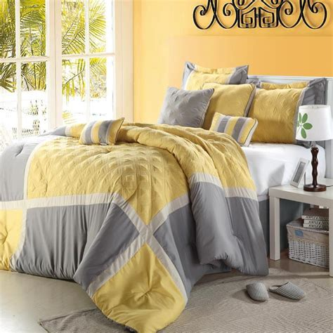 Purple Yellow And Grey Bedding by Poppy Flower Plum Purple 8 Comforter Bed In