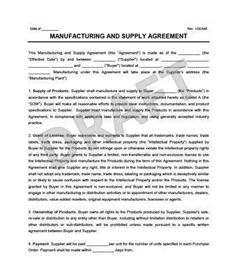 manufacturing supply agreement create download a