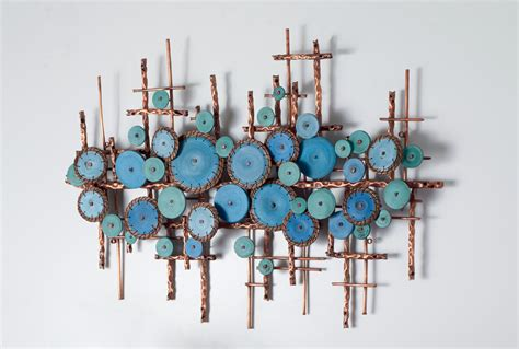 Ripples In Blues By Hannie Goldgewicht Mixed Media Wall Sculpture Wall Decor
