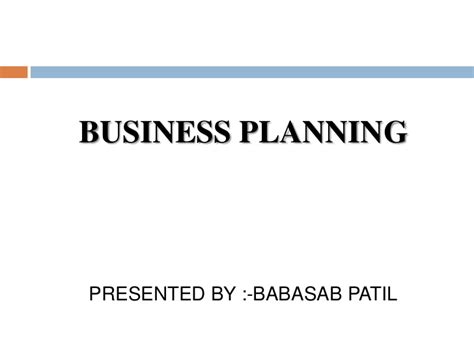 Business Ppt For Mba by Business Planning Ppt Bec Bagalkot Mba