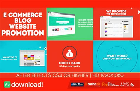 after effects template free blogspot e commerce blog website promotion videohive free