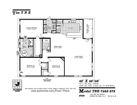 tnr 7483 mobile home floor plan ocala custom homes