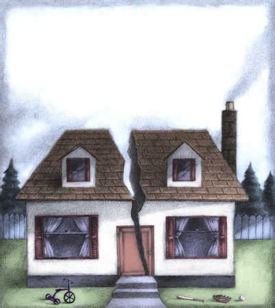 stock illustration house with the middle