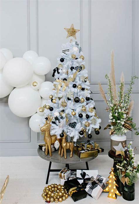 decoração arvore de natal vermelho e branco 65 ideias de 193 rvore de natal branca in 233 ditas e originais