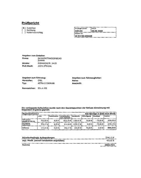 Muster Rechnung An Versicherung Eucon Pr 252 Fbericht Der Allianz Irritiert Das Unfallopfer Und Diskreditiert Den Freien