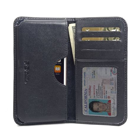 Wallet Iphone 6 iphone 6 6s leather wallet sleeve black stitch