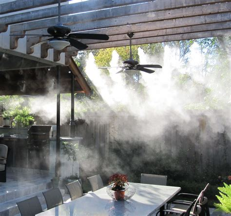 backyard misting system high pressure patio mister 100 high pressure patio