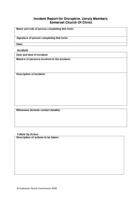 church report template best photos of guest incident report template car