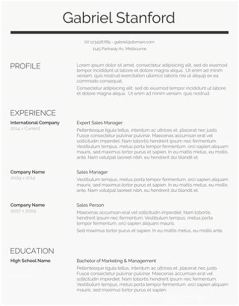 free sle professional resume format 110 free resume templates for word downloadable freesumes