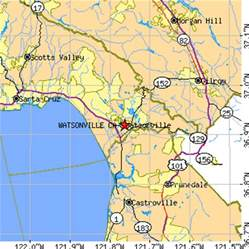 map of watsonville california watsonville california ca population data races
