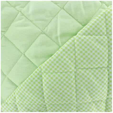 Quilted Cotton Fabric by Baby Quilted Cotton Stitched Fabric Anise X 10cm Ma
