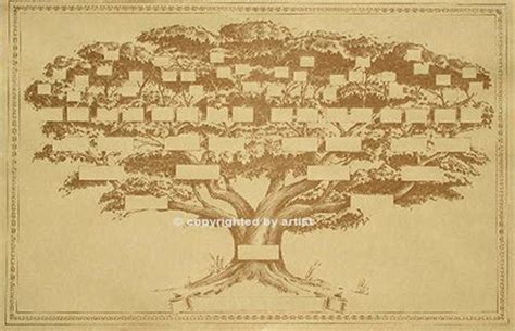 big 22x34 inch family tree chart displays 6 to 7 generations
