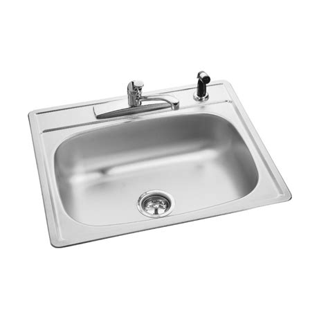 commercial drop in sink shop kindred essential 25 in x 22 in single basin