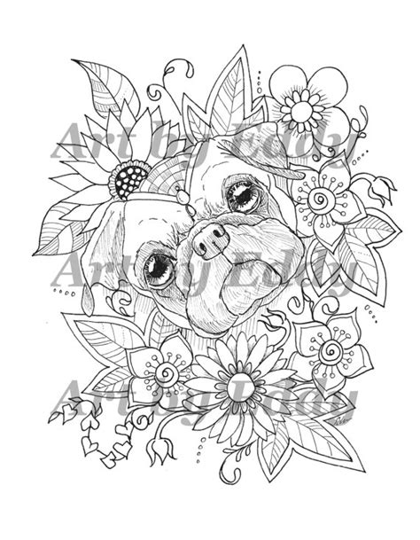 pug coloring pages for adults pug coloring page mandala coloring coloring pages