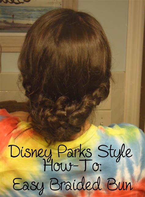 how to park braids picturing disney park style how to easy braided bun
