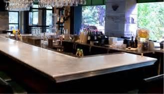 zinc bar top restaurants bars hotels retail