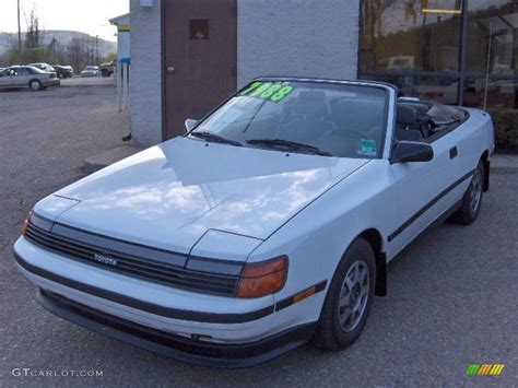 Toyota Celica 1989 1989 White Toyota Celica Gt Convertible 28875170