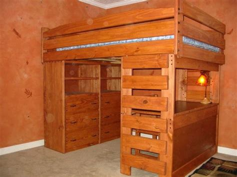 Bunk Bed With Desk And Dresser by Loft Bed With Dresser And Desk Woodworking Projects Plans
