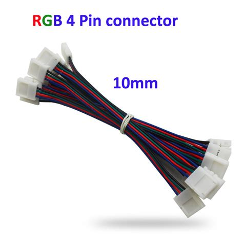 Rgb L by 4pin Rgb Connector 1 In 2 3 Splitter Extension Wire Cable