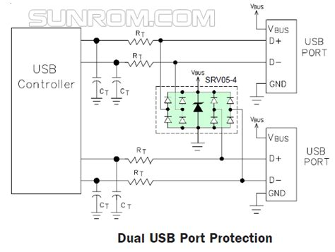 esd protection diode application notes srv05 4 esd protection 4568 sunrom electronics technologies