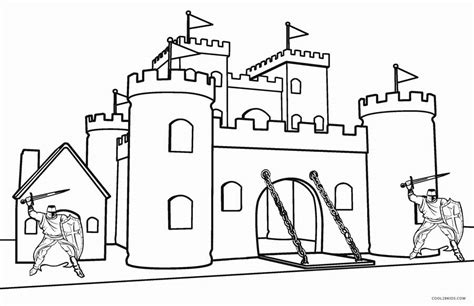 Printable Castle Coloring Pages For Kids Cool2bkids Coloring Pages Castle