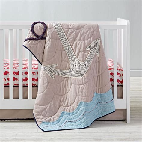 seahorse crib bedding boys crib bedding sets the land of nod