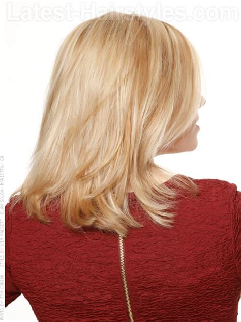 back of head layered blonde hair styles back of head medium length layered hairstyles