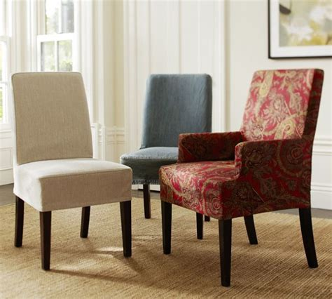 Slipcovers For Armed Dining Room Chairs Dining Chair Slipcovers With Arms Chairs Seating