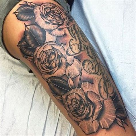 sexy rose tattoos tattoos on thigh www pixshark images