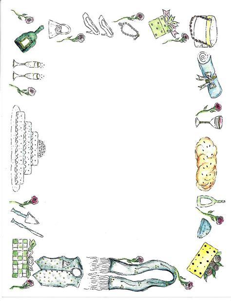 Wedding Border Paper by Border Design Paper Wedding 50 Sheets