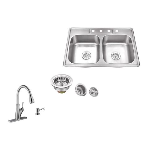 Kitchen Sink Company | ipt sink company drop in 33 in 4 hole stainless steel