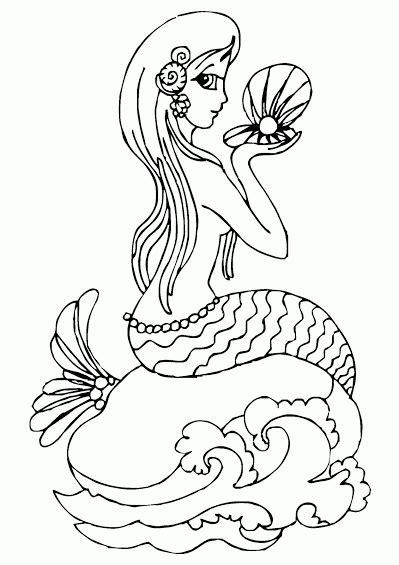 Gambar Mewarnai Putri Duyung, Cantik Banget.. - Contoh