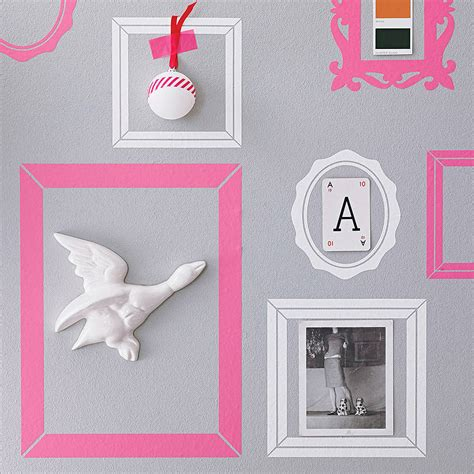 wall stickers frames pack of seven picture frame wall stickers by nutmeg