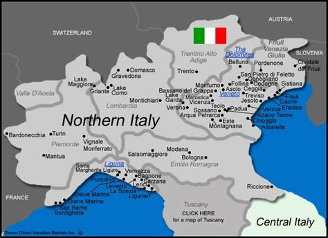 northern italy map a cook s tour of italy for april fireseed alliance