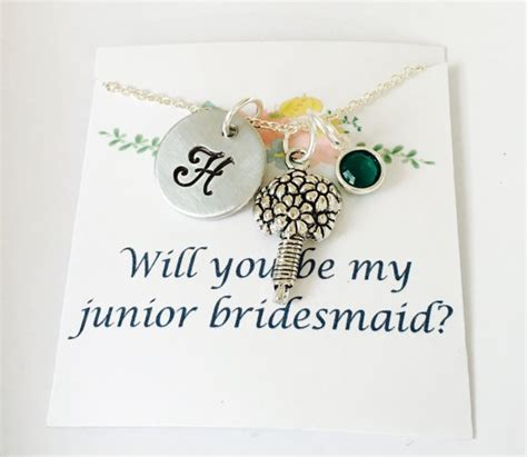 junior bridesmaid writing journal books junior bridesmaid necklace junior bridesmaid gift wedding
