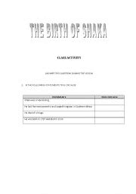 zulu printable worksheets english worksheets shaka zulu