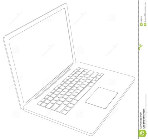 Drawing Laptop by Drawing Of Wire Frame Open Laptop Perspective Stock