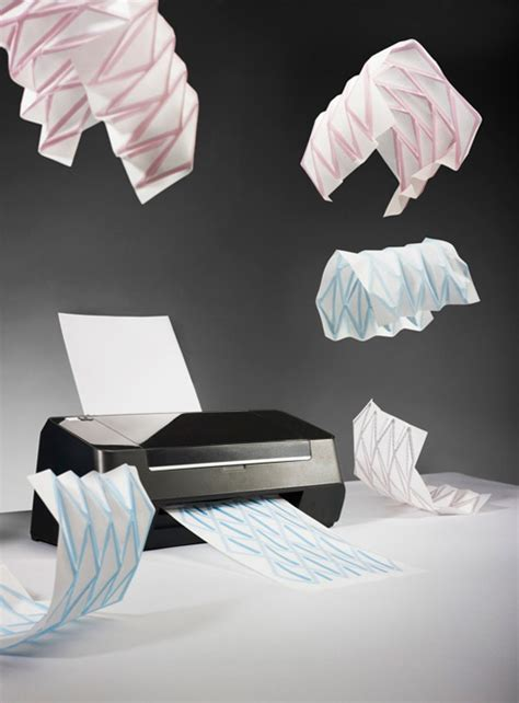 Origami With Printer Paper - industrial designer creates origami printer