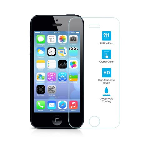Set Tempered Glass Iphone 5 iphone 5s tempered glass screen protector gsm accessories
