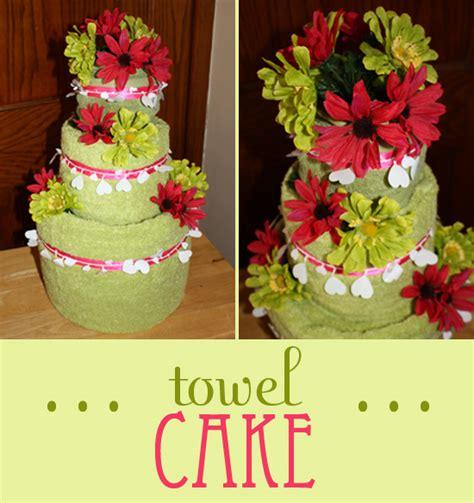 tea towel cake for wedding shower bridal shower gift towel cake craft tutorial finding zest
