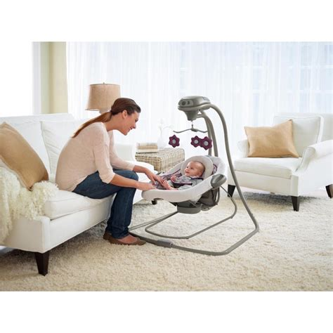 baby swing plugs into wall com graco duetconnect lx swing bouncer finley