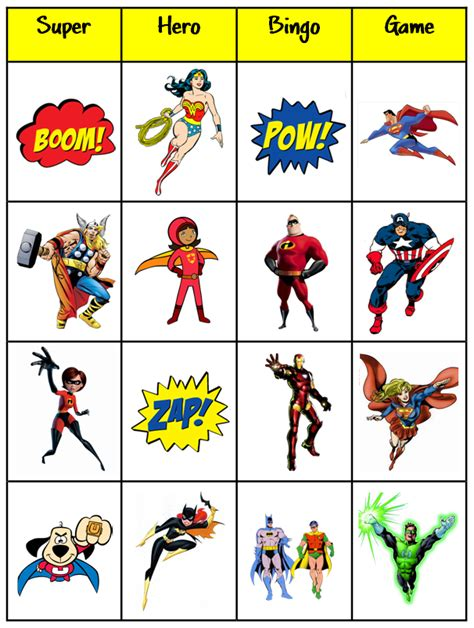 printable heroes bingo clipart images frompo